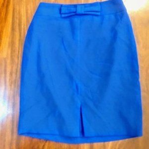 Banana republic pencil royal blue skirt